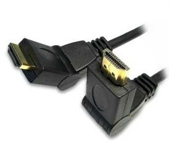 HDMI 1.4 kabel haaks scharnierend met ethernet high speed 1,8M
