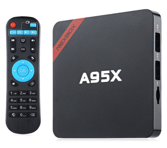 Nexbox a95x tv box kodi mediaplayer amlogic s905x 2GB Ram 8GB Rom settop box