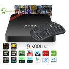 Nexbox a95x tv box kodi mediaplayer amlogic s905x 2GB Ram 8GB Rom settop box met keyboard